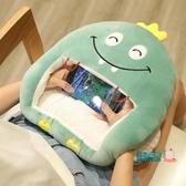 暖手抱枕 可愛冬天季暖手抱枕插手捂毛絨午睡被子兩用毯男女生可視看玩手機