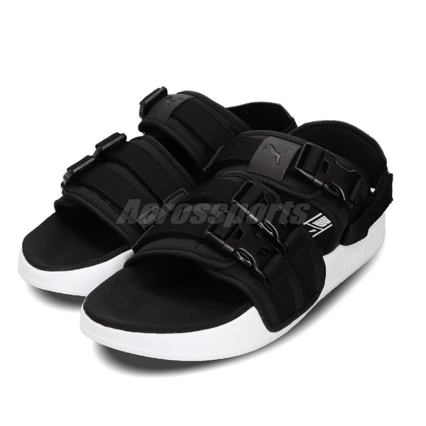 Puma 涼鞋 Leadcat YLM 19 黑 白 涼拖鞋 基本款 黑白 魔鬼氈 男鞋 女鞋【PUMP306】 36940701