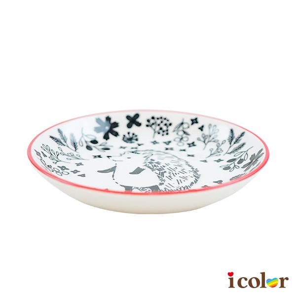 i color 插畫風動物陶瓷圓盤(11cm)