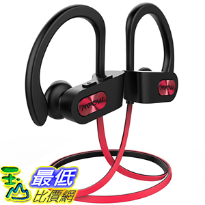 [107美國直購] 耳機 Mpow Flame Bluetooth Headphones Waterproof IPX7, Wireless Earbuds Sport 紅色