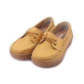 BABYLON 牛皮厚底帆船鞋 黃 女鞋