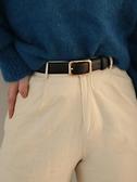 腰帶 新款腰帶女士ins風配牛仔褲夏季裝飾西裝百搭褲帶時尚皮帶男黑色 夢藝家