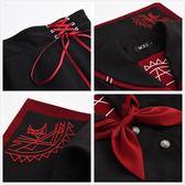全館83折日系JK制服學生校班學院風軟妹COS暗黑水手中間服長短袖不良套裝
