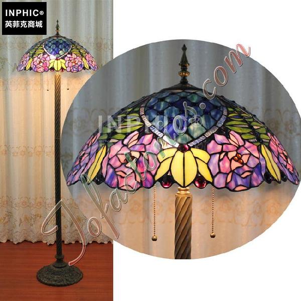 INPHIC-訂製藍色地中海手工彩色玻璃落地燈奢華紫色迷情藝術燈飾酒吧燈具_S2626C