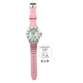 小禮堂 角落生物 北極熊 矽膠錶帶兒童手錶 運動手錶 休閒腕錶 透明盒裝 (粉 點點) 4589677-88411