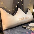 熱賣靠背枕 風北歐皇冠床上靠枕床頭板軟包雙人網紅可拆洗靠墊抱枕大靠背LX coco