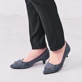~ORiental TRaffic ~摩登金屬方釦中跟鞋皇家藍