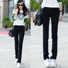 棉麻褲 春裝女直筒牛仔褲女大碼韓版顯瘦黑色女長褲大碼牛仔寬鬆 開春特惠