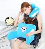 U型脖靠枕二哈士奇卡通腰枕頭護頸枕頸椎枕辦公室午睡枕護腰靠墊 凱斯盾