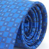 【Alpaca】藍底方格白點領帶