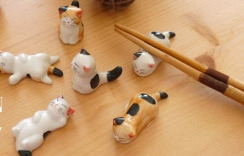 [協貿國際]  創意貓咪筷子架(6只1套價)