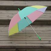 半透明雨傘磨砂手繪傘長柄環保傘兒童環保彩繪傘igo    蜜拉貝爾