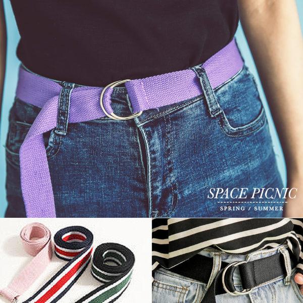 腰帶 Space Picnic|現+預.歐美經典拼色/素面腰帶【C1704372】