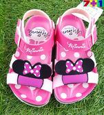 迪士尼米妮   繫帶涼鞋《7+1童鞋》B178粉色