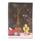 LOUIS VUITTON LV 路易威登 艾菲爾鐵塔旁兜風印花護照夾 Passport Cover【BRAND OFF】