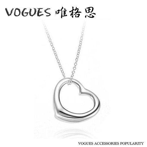 心型電鍍純銀項鍊   A122  情人節禮物【Vogues唯格思】