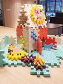 積木 兒童積木拼裝玩具益智力6開發1-2周歲幼兒園男女孩3蘑菇釘4拼插圖