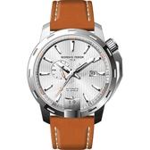 GIORGIO FEDON 1919 永恆系列運動版機械錶-銀x棕/45mm GFCI003