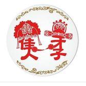 才子佳人陶瓷吸水杯墊婚禮小物送客禮環保耐熱吸水杯墊伴郎伴娘禮抽獎禮【皇家結婚 】