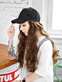 帶假髮帽子一體女秋冬款中長髮長卷髮玉米燙網紅時尚水波紋全頭套 童趣屋