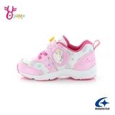 Moonstar月星童鞋 女童運動鞋 慢跑鞋 跑步鞋 速乾鞋 彩虹小馬 魔鬼氈 日本機能鞋 J9678#粉紅◆奧森