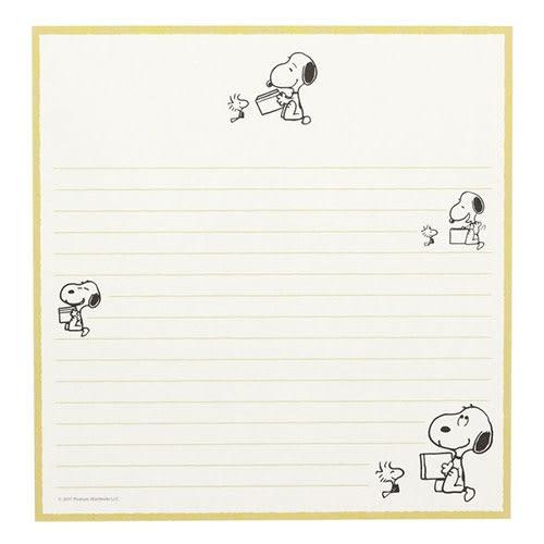 SNOOPY美式生活系列趣味漫畫信紙組(黃)★funbox★sun-star_UA54440