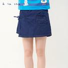 a la sha 烏龍造型口袋牛仔褲裙...