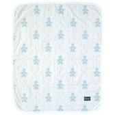 寶寶毯 / 寶寶被 / 嬰兒毯 / 嬰兒被 SOULEIADO / Hoppetta - 六層紗普羅旺斯熊被- 淺藍色 # 428915