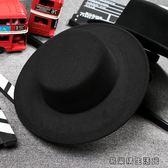 潮流休閒黑色明星禮帽復古紳士帽 易樂購生活館