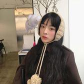 可愛針織耳包毛球系帶毛線耳罩秋冬季護耳保暖復古耳套女年貨慶典 限時鉅惠