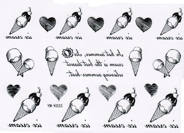 薇嘉雅      雙淇淋 紋身貼紙 k-033