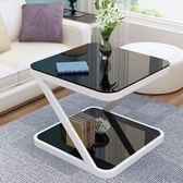小茶幾簡約現代迷你方形客廳沙發邊幾簡易小戶型創意角幾茶幾     ciyo黛雅
