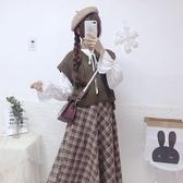 針織馬甲慵懶風少女日系毛衣女韓版寬鬆外穿秋冬馬甲針織上衣學生背心外套