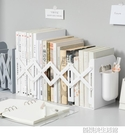 可伸縮書立架 書夾帶筆筒簡易學生桌面置物架 課桌辦公室文件收納