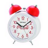 【台南 時代鐘錶 SEIKO】精工 可口可樂聯名款鬧鐘 鬧鐘 QHK905W 響鈴聲 靜音 貪睡