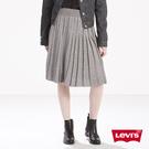 Levis 女款 羊毛打褶裙 / 金蔥