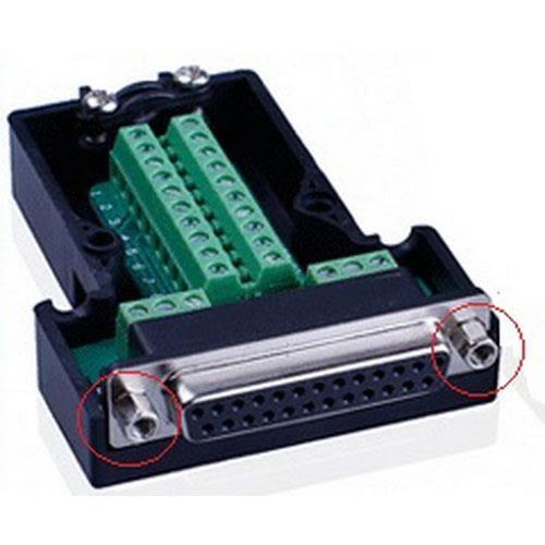 DB25P 母免焊式DIY接頭組合包 (六角螺母)