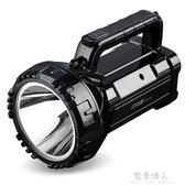 LED強光手電筒可充電探照燈超亮戶外巡邏多功能手提礦燈家用  完美情人精品館