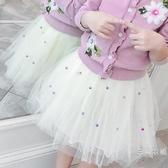 半身裙2020春夏新品韓版時髦女童短裙網紗裙打底半身裙百褶裙高腰蓬蓬傘