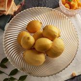 透明玻璃水果盤 干果盤 零食盤 裝糖果瓜子 大號果盤