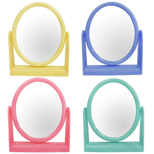 粉彩小橢圓立鏡 1入~不挑色隨機出貨