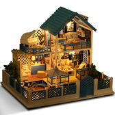 那家diy小屋愛琴海手工房子模型拼裝別墅女孩玩具創意男生日禮物wy【樂購旗艦店】