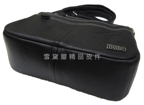 ~雪黛屋~MoDo 斜側包小容量100%進口牛皮革軟皮革肩背斜側背中性款男女適用BMO700-57