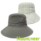 【Mountneer】透氣抗UV雙面帽『中灰/卡其』11H18 台灣製造│抗UV帽│遮陽帽│圓盤帽│釣魚帽