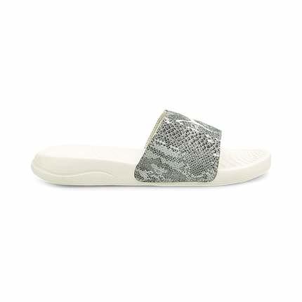 PUMA Popcat 20 Wns Untamed 女款灰白色蛇紋休閒涼拖鞋-NO.37510803
