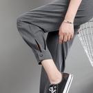 哈倫褲小個子八分西裝蘿卜褲女夏季薄款九分高腰矮個子休閒褲子夏