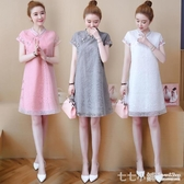 大碼洋裝~ 改良版旗袍式夏2020新式中國風漢服氣質優雅大碼民族風顯瘦洋裝