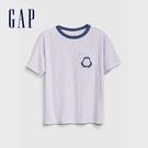 Gap 男童 創意風格圓領短袖T恤 573651-紫色