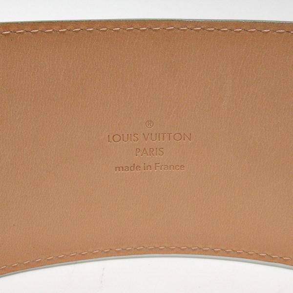 LOUIS VUITTON LV 路易威登 草綠色漆皮金色logo釦頭寬版皮帶 85cm M9828【BRAND OFF】