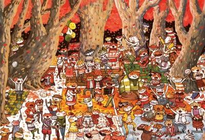 【拼圖總動員 PUZZLE STORY】森林狂歡派對 日本進口拼圖/Apple One/afu/繪畫/300P